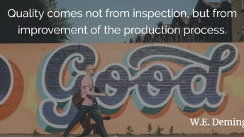 001 - Quality do not come from inspection - Deming
