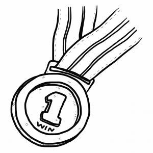 number-1-or-winner-medal